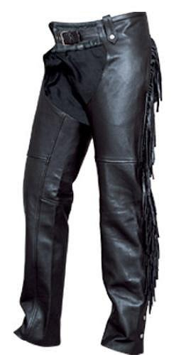 Beautiful Ladies Cowhide Leather Motorcycle Chaps