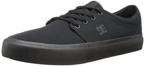 DC Men's Trase TX Skate Shoe, Black/Black/Black, 10.5 M US