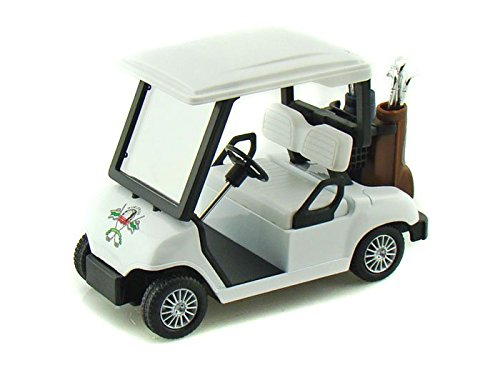 Golf Car / Cart 1/18 White - 1