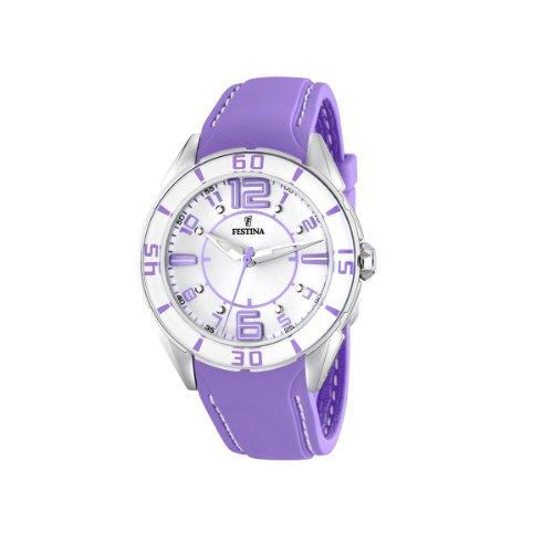 FESTINA F16492/4 - Reloj de mujer de cuarzo, correa de plástico color morado