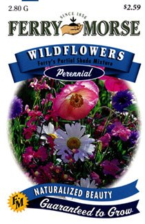 Ferry-Morse 1943 Wildflower Seeds, Ferry's Partial Shade Mixture (2.8 Gram Packet)