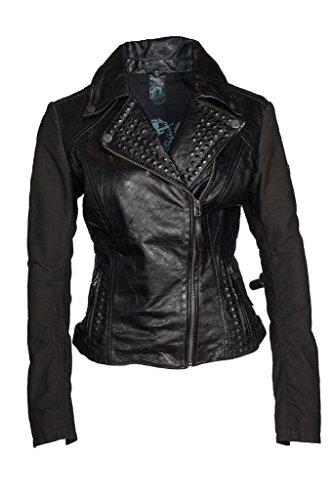 Marc ella Black Gipsy in pelle giacca, donna, esterno wear