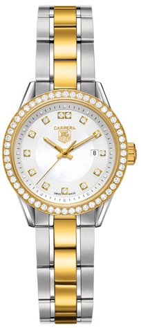 Tag Heuer Carrera Two Tone Diamond Ladies Watch WV1451B.D0797