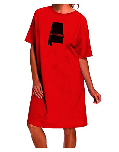 TooLoud Alabama - United States Shape Adult Wear Around Night Shirt and Dress