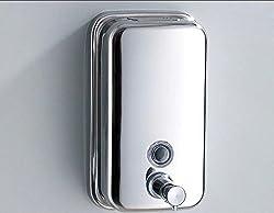 KITSCH(TM) Pure Stainless Steel Push Button 1000 ml Liquid Soap, Lotion, Shampoo Dispenser