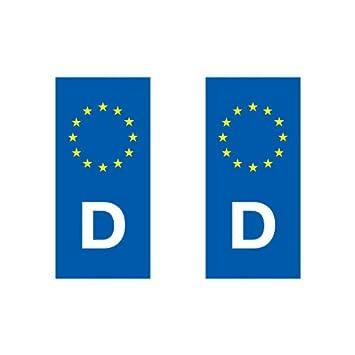 autocollant plaque immatriculation pays pays europ ens eurologo moto allemagne cuisine. Black Bedroom Furniture Sets. Home Design Ideas