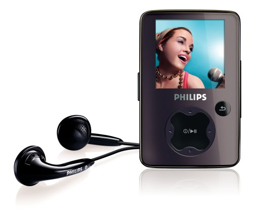 Philips SA30 2 GB Flash Video MP3 Player with FM Radio and 1.5-Inch Color Screen (Black)