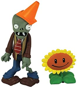 Plants vs Zombies Figures 3'' Conehead Zombie with Sunflower