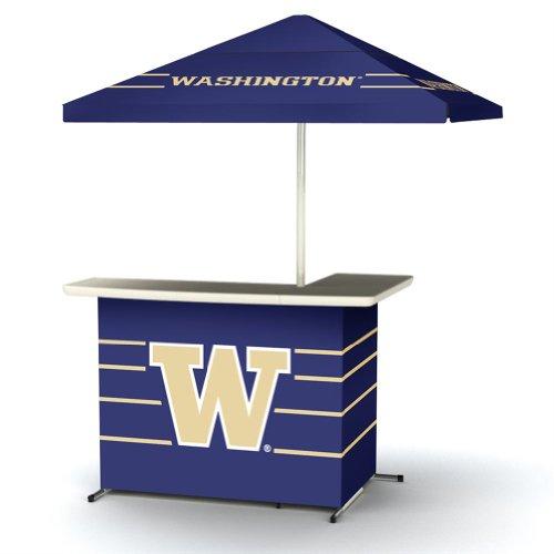 Ncaa Washington Huskies Wheeled Portable Bag Travel L-Shape Umbrella Basic Bar