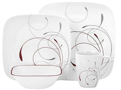 Corelle Square 16-Piece Set Porcelain Mugs, Splendor