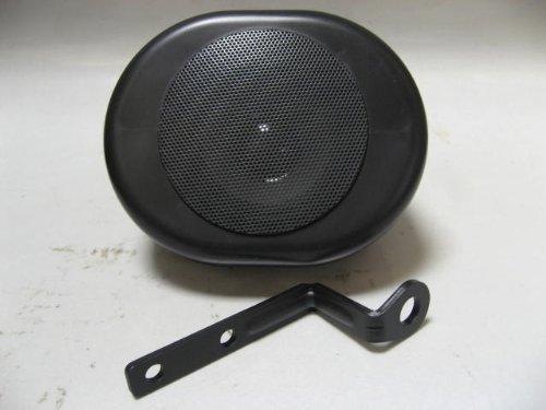 Shark Shkspeaker 1Pc Blackwaterproof Marine Oval Speaker Motorcycle, Golf Carts W/ Bracket. Black Weatherproof