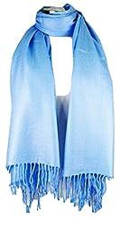 Premium Pashmina Shawl Wrap Scarf - Sky Blue
