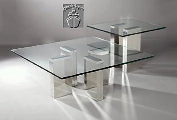 Sabrina Square Glass Sofa Table