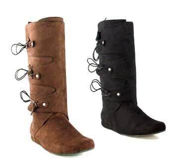 Ellie Shoes - Adult Men - Thomas Black Adult Boots (Men's Adult Small 8-9) - Small