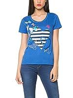 Desigual Camiseta Manga Corta (Azul)