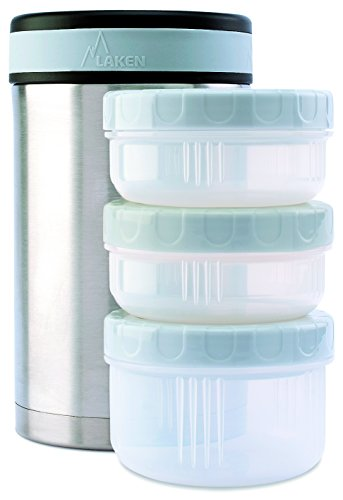 Laken Thermo Insulated Stainless Steel Vacuum Food Jar Container w/Cover and PP Containers 50 Ounces (Insulated Containers For Food compare prices)