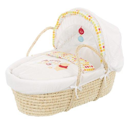 Disney Winnie The Pooh Moses Basket for Newborn (White)