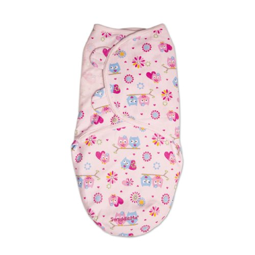 Summer Infant SwaddleMe Adjustable Infant Wrap, Hearts and Hoots, Small/Medium