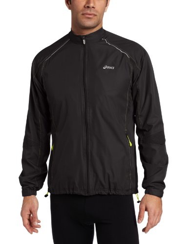 ASICS Asics Men's Stealth Jacket, Small, Black/Acid Green