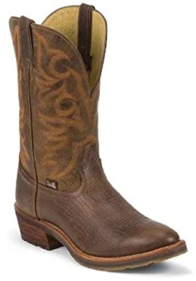Buy Justin Mens 1879 Cowboy Boot Round Toe Pecan US by Justin
