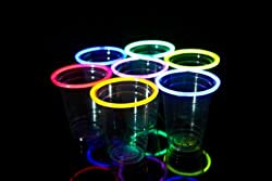 24 Disposable Glow Stick Party Cups (Mixed, 18 oz)