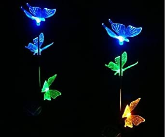 Iclever papillons lumineuses solaire solaire for Decoration lumineuse exterieur solaire