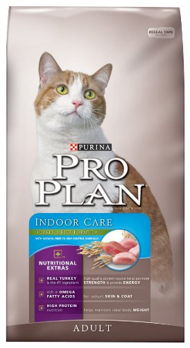 See Purina Pro Plan Dry Adult Cat Food (Indoor Care), Turkey and Rice Formula, 16-Pound Bag
