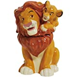 Westland Giftware Simba on Mufasa Ceramic Cookie Jar, 11.75-Inch