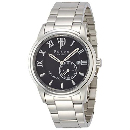 [フルボデザイン]Furbo design 腕時計 自動巻き F9012 ブラック文字盤 ステンレススチール 靴磨きギフトセット付き F9012BKSET メンズ