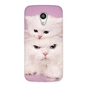 Delighted Kitty Family Back Case Cover for Moto G 2nd Gen