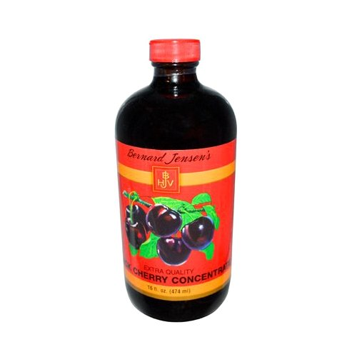 Bernard Jensen Black Cherry Concentrate Extra Quality, 16 Fluid Ounce (Dark Cherry Juice Concentrate compare prices)