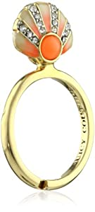 "Juicy Couture ""Creatures Of Paradise"" Seashell Mini Wish Gold Ring, Size 7"