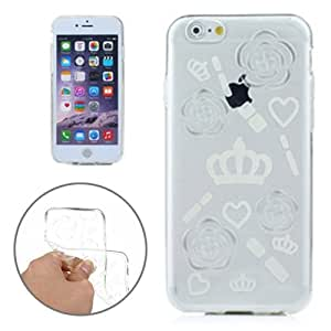 Crazy4Gadget Stamp Pattern TPU Cases for iPhone 6 Plus & 6S Plus(White)