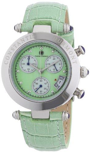 Constantin Durmont - Reloj para mujer de cuero verde