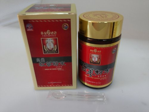 110G(3.9Oz),100% Korean Red Ginseng 6 Years Roots Powder, No Additives, Saponin
