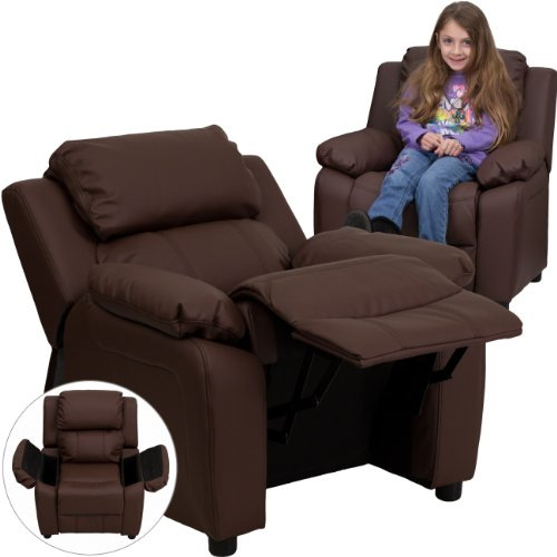 Flash Furniture Deluxe Heavily Padded Leather Kids Recliner