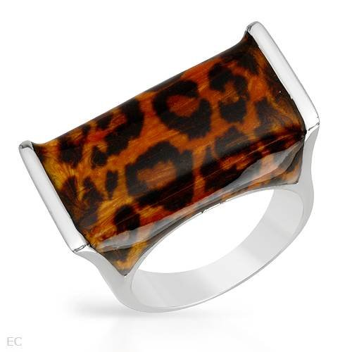 Ring With Cubic zirconia Made of Three tone Enamel and 925 Sterling silver. Total item weight 10.6g (Size 5)