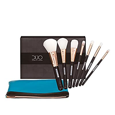 NIRÉ BEAUTY | Top Rated 7 Makeup Brushes Set for Real Makeup Techniques | Bonus Make up Brush Set Pouch and Niré Beauty Blender | LIMITED EDITION