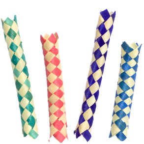 12 Chinese Finger Traps - Assorted Colors - 1