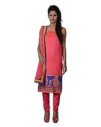 Mumtaz Sons Women's Cotton Unstitched Dress Material (MS111408B,Pink)