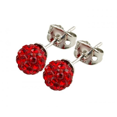 Tresor Paris 'Saint Remy' Red Crystal Earrings