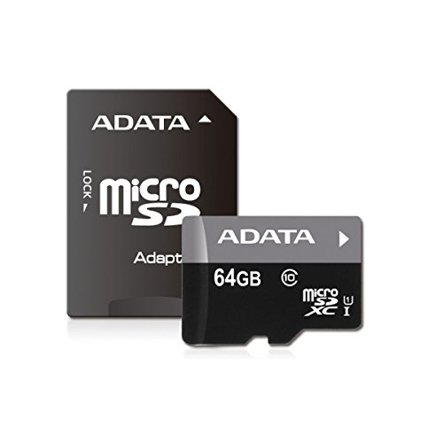 ADATA Premier 64GB microSDHC/SDXC UHS-I U1 Class 10 Memory Card with Adapter (AUSDX64GUICL10-RA1) (Micro Sd Adata compare prices)