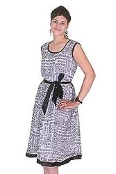 Selfi Route Printed Crepe Dress
