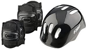 Boys' Bike Helmet and Pads Set by Riderz