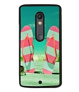 printtech Beach Hawaii Slipper Back Case Cover for Motoroal Moto X Play