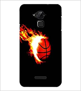 PrintDhaba Ball on Fire D-1227 Back Case Cover for COOLPAD NOTE 3 LITE (Multi-Coloured)