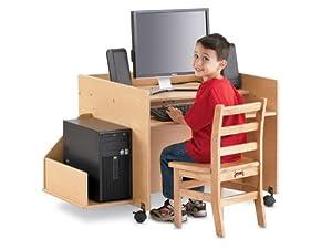 Jonti-Craft 3494JC011 MapleWave Kydz Computer Single Kids Desk from Jonti-Craft
