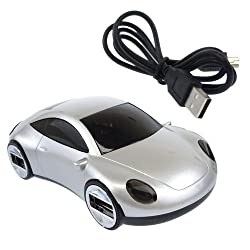 USB Race Car Hub - Silver