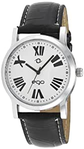 Maxima Ego Analog White Dial Men's Watch - E-01071LAGC