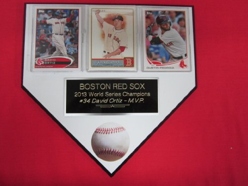 Boston Red Sox 2013 World Series Champions 3 Card Collector Home Plate Plaque Exclusive Design To Amazon! back-913173